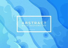 Blauer Wellen-Zusammenfassungs-Hintergrund vektor