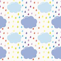 Cloud nahtlose Hintergrundmuster vektor