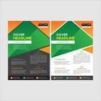 Enkel och ren modern affärsreklambladdesign