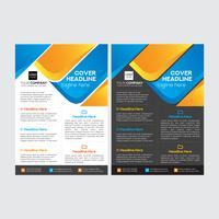 Sauberer moderner Geschäfts-Flyer-Entwurf