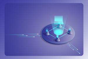 Block Chain-Technologie Landing Page-Konzept vektor