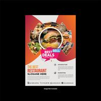 Moderner stilvoller Restaurant-Flyer-Entwurf