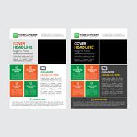Enkel design för företagsaffärsreklamblad