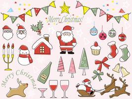 Set Weihnachtsvektorgraphikelemente.