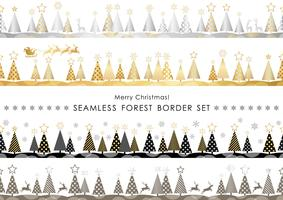 Satz Weihnachtsnahtlose Waldgrenzen