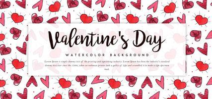 Hjärtmönster Valentine Banner