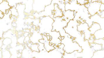 Vit marmorbakgrund med guldtextur vektor