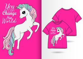 Sie können den Welteinhorn-T-Shirt Entwurf ändern