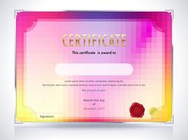 Abstrakt certifikatmall