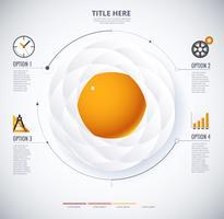 Infographik Diagramm von Spiegelei und Food-Konzept vektor