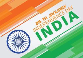 Abstrakte Hintergrundfarben der indischen Unabhängigkeitstagflagge