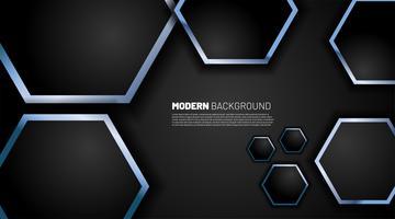 Hintergrundtechnologie mit sechseckigen Formen