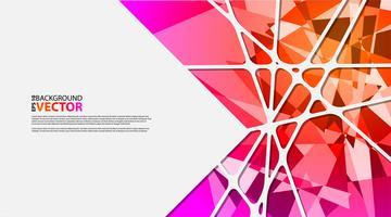 Abstrakt geometrisk bakgrund med polygoner vektor