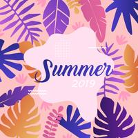 Sommer-Kartenvorlage