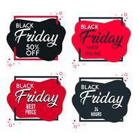 Black Friday-Verkauf etikettiert Sammlungsgestaltungselemente