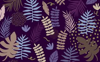 Tropische Dschungelblätter und Blumenhintergrund