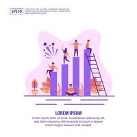 Teamwork-Zeichensatz Mit Diagramm