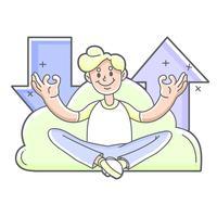 Cloud Upload und Download niedliche Illustration