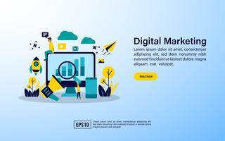Byrå för digital marknadsföring vektor