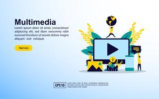 Multimedia Landing Page vektor