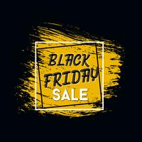 Black Friday-Aufschrift auf abstrakten Tintenflecken für Verkauf