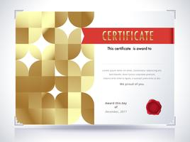 Gyllene certifikatmall