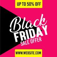 Black Friday-erbjudande-affisch