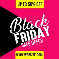 Black Friday Sale Angebot Poster