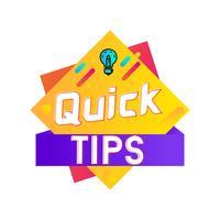 Quick Tips Hilfreiche Square Flat Banner Design vektor