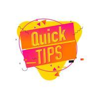 Quick Tips Triangle Hilfreiche Banner Design vektor