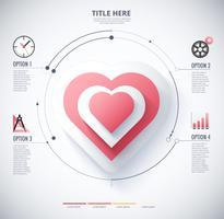 infographic diagram över hjärta vektor