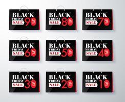 Black Friday-marknadsföringsetikett och tagrabatt