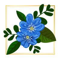 Blauer mit Blumenvektor vektor