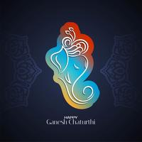 Ganesh Chaturthi färgglad design vektor