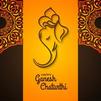 Dekoratives Mandala Ganesh Chaturthi Design