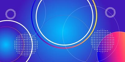 Primärfarben abstrakter Kreismuster Hintergrund