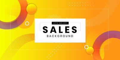 Modern gul abstrakt bakgrundsdesign för försäljning vektor