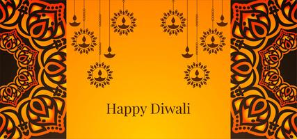 Hängende Diya Happy Diwali Design