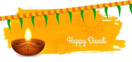 Modernes Diwali Design mit Girlande