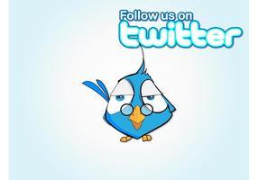 Följ Bird vektor