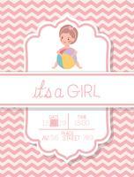 es ist eine Mädchen-Babypartykarte vektor