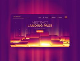 Abstrakt gradientblocks landningssidesign