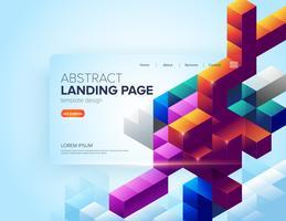 Abstraktes Würfel-Landing Page-Design