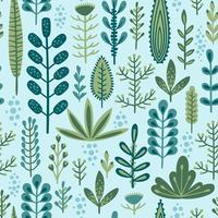 Botaniska sömlösa mönster vektor