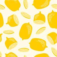 gult citronmönster