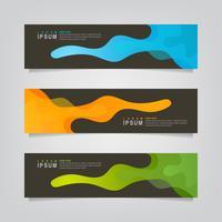 Uppsättning av abstrakta vätskebaner Banners