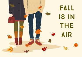 Der Herbst liegt in der Luft mit einem romantischen Paar