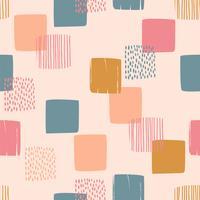 Abstraktes geometrisches nahtloses Muster mit Quadraten