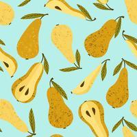 Seamless mönster med päron vektor