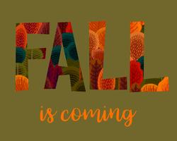 Herbst kommt mit Herbstlaub